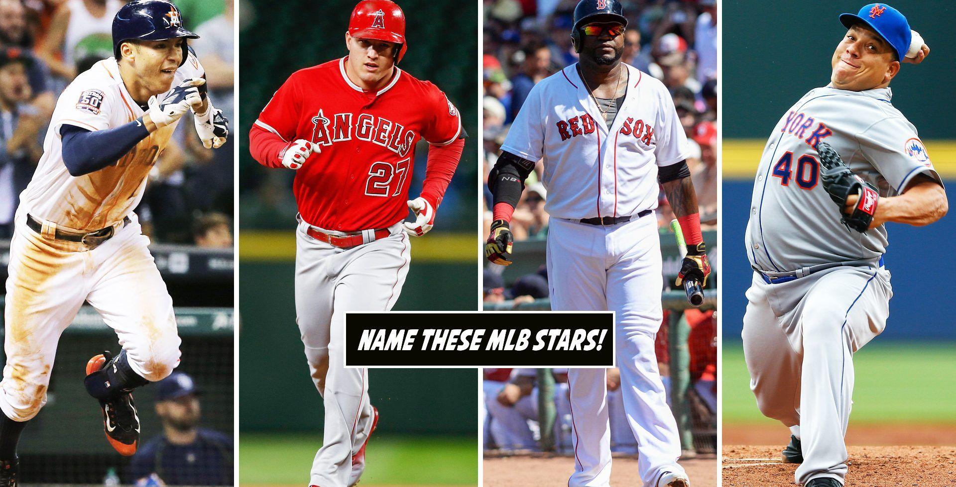 Major league baseball player images