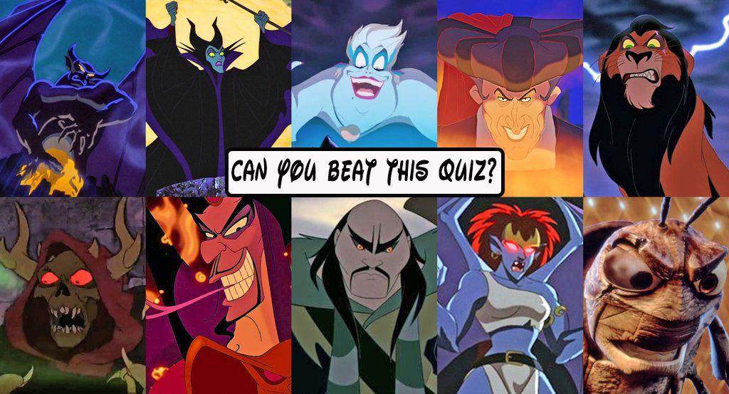 Animated villains quiz